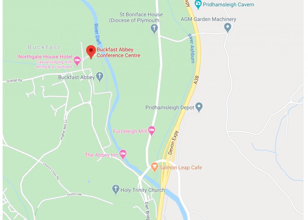 GoogleMaps Screenshot of Buckfast Conference Centre
